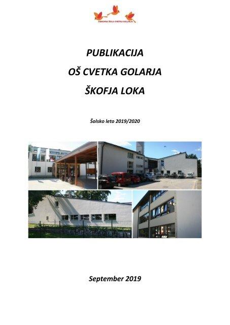 Publikacija OŠ Cvetka Golarja za šolsko leto 2019/2020