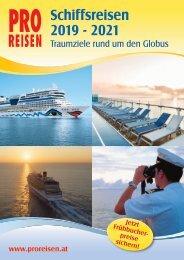 PRO Reisen Schiffsreisen 2019 bis 2021