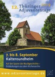 12. Thüringer Adjuvantentage 2019 - Broschüre