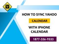How To Synchronization Yahoo mail Calendar On iPhone?