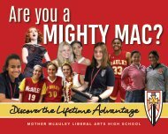 Mother McAuley Viewbook 2019