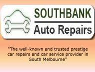 Car Service & Car Repairs in Port Melbourne