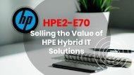 HPE2-E70 Exam Questions