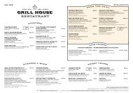 Grill House Autumn menu 03.10 - 31.03.2020 (M/S Romantika)