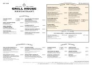 Grill House Autumn menu 03.10 - 31.03.2020 (M/S Baltic Queen & Victoria I)