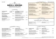 Grill House Autumn menu 03.10 - 31.03.2020 (Europa)