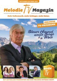 Melodie TV Magazin September / Oktober 2019