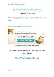 Microsoft MCSA 70-743 Exam Dumps