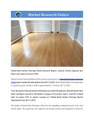 Global Hard Surface Floorings Market