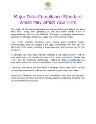 Major Data Compliance Standard which May Affect Your Firm