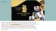 FOLLOW THESE TOP B2B INFLUENCERS IN 2019