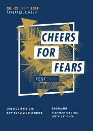 Cheers for Fears Fest 2019 - Programmheft