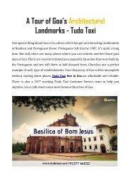 A Tour of Goa's Architectural Landmarks - Tudo Taxi