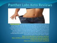 Panther Labs Keto - Reduces The Fat Content Form The Body