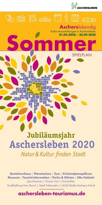 Ascherslebendig Sommerspielplan 2020