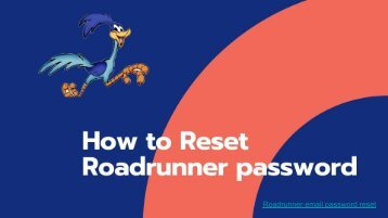 How to Reset Roadrunner Email Password