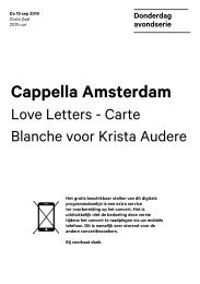 2019 09 19 Cappella Amsterdam