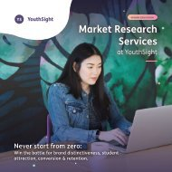 YouthSight Brochure: Market Research Services for Higher Education