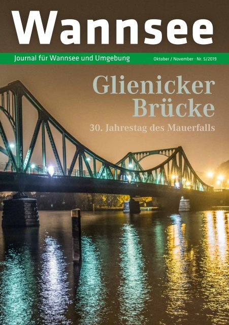 Wannsee Journal Oktober/November 2019