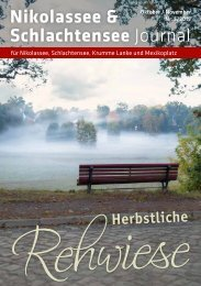 Nikolassee & Schlachtensee Journal Oktober/November 2019