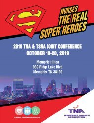 2019 Tennessee Nurses Association Book of Reports