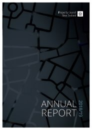Property Council New Zealand Annual Report 2018/19