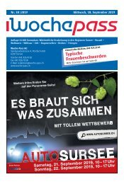 Woche-Pass | KW 38 | 18. September 2019