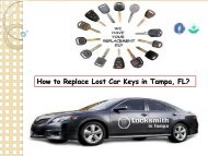 How to Replace Lost Car Keys in Tampa, FL