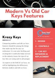 Advantages of Using Modern Car Keys | Car Locksmith Service in Perth