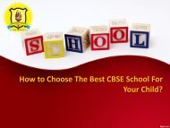 How to Choose The Best CBSE School For Your Child? - JPHS