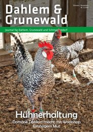 Dahlem & Grunewald Journal Oktober/November 2019