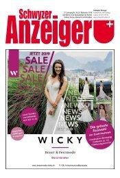 Schwyzer Anzeiger – Woche 38 – 20. September 2019