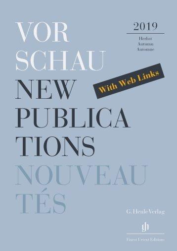 New Publications Autumn 2019