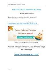 AEM Business Practitioner AD0-E102 Exam Dumps