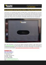 Buy Automatic Urinal Flusher Online-Shop Toshi Automation
