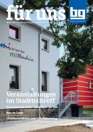 Baugenossenschaft Hof eG: für uns - Oktober 2019