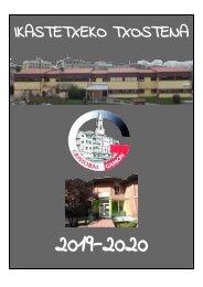 2019-20 ikasturteko txostena