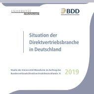 Situation der Direktvertriebsbranche in Deutschland 2019