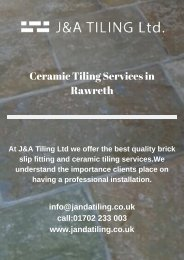 Ceramic Tiling Services in Rawreth