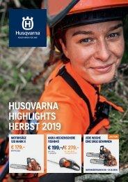 HUSQVARNA HIGHLIGHTS HERBST 2019