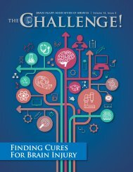 THE Challenge 2019 Vol. 13 Iss. 3 Finding Cures for Brain Injury