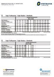 VERSION 2 | 1 Vejle Trafikcenter - Vejle Stadion - Bredballe | Gyldig 12.08.19 | Sydtrafik