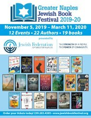 2019-20 Greater Naples Jewish Book Festival brochure