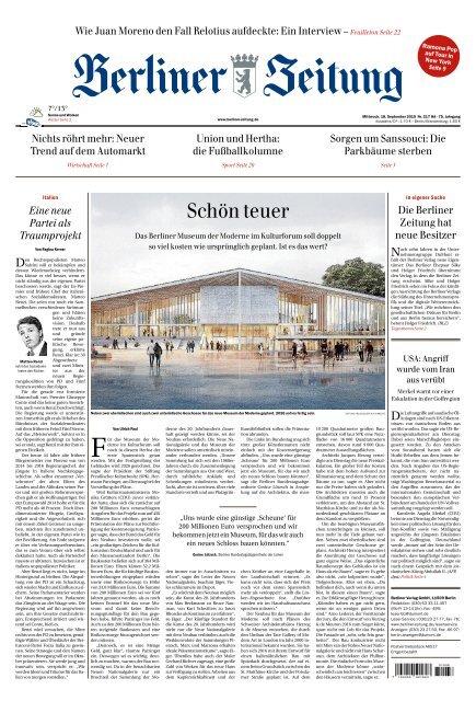 Berliner Zeitung 18.09.2019