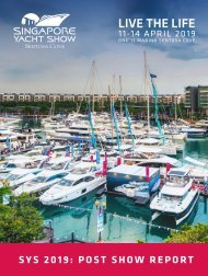 Singapore Yacht Show 2019 Post Show Report