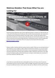 4 Mattress Stores