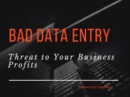 Bad Data Entry - Threat to Your Business Profits