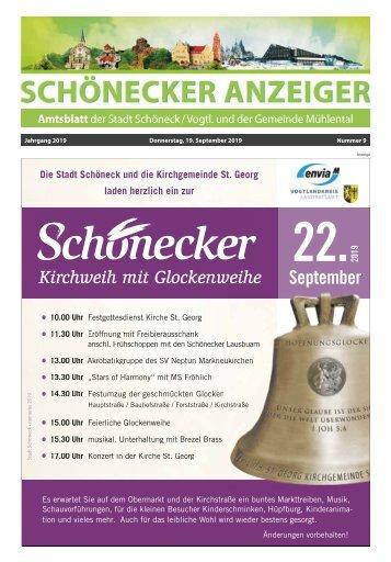 Schönecker Anzeiger September 2019