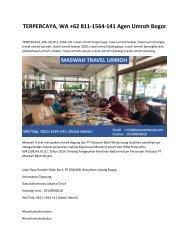 TERPERCAYA, WA +62 811-1564-141 Agen Umroh Bogor