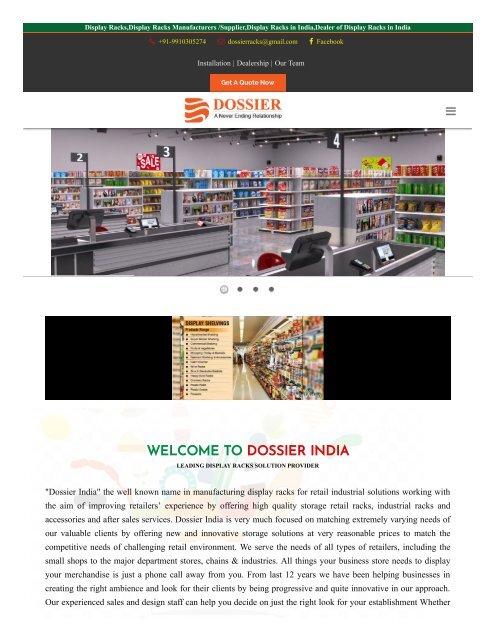 supermarket display racks in delhi